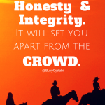 Run With Honesty and Integrity