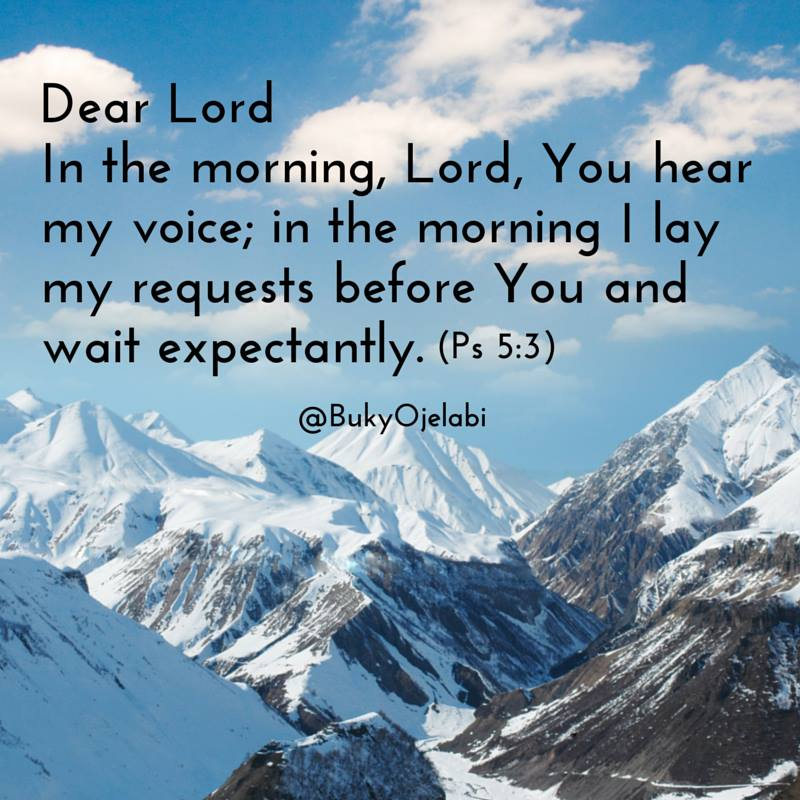 Morning bible quote