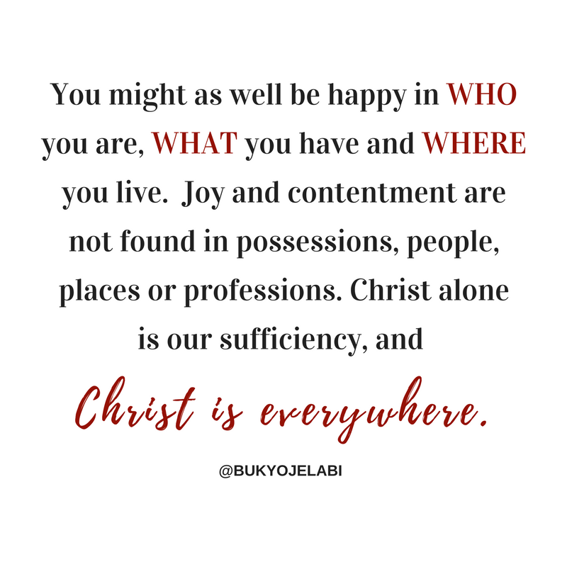 Contentment: Be Happy Now!