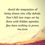Avoid Silly Debate