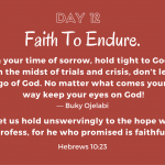 Faith To Endure.