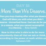 More Than We Deserve